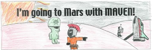 Go to Mars with Maven children's artwork