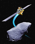 asteroid being tracked by satellite
